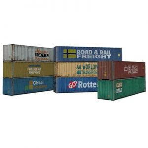 8 x 40ft shipping container paper models