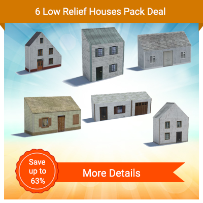 6 Low Relief Houses
