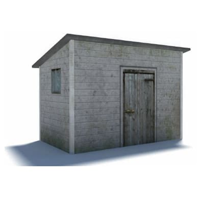 small gray shed scale railroads template