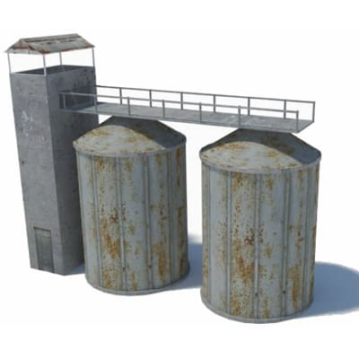 paper kits - silo for model railroad industries