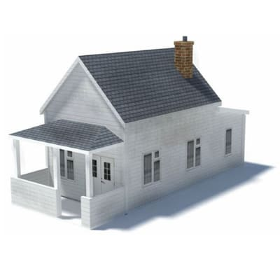 building model houses - white home