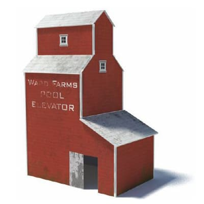 red us grain elevator farm silo model