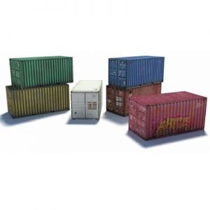 download, print, build ho kits -shipping containers