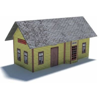 small railway station paper scale kits