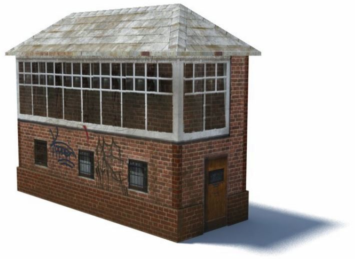 railroad signal box scale model