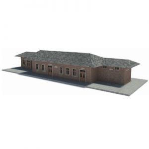 brick railway station HO scale buildings