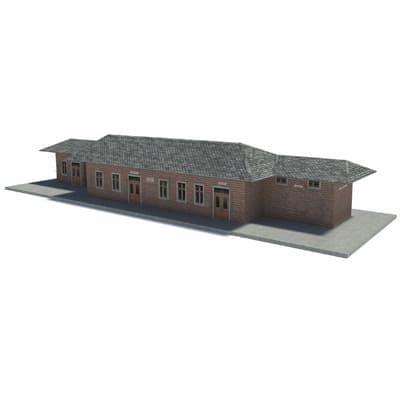 brick railway station HO scale buildings