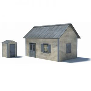 telegraph office and phone booth - model railroad buildings