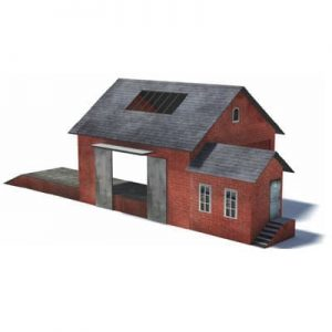 printable red goods / freight depot shed