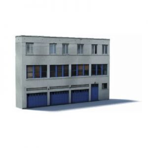 industrial backdrop low relief scale building