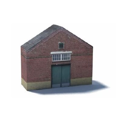 red brick warehouse ho scale model buildings
