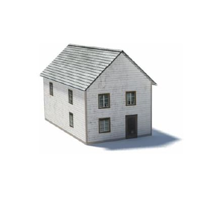 2 level residential ho scale property