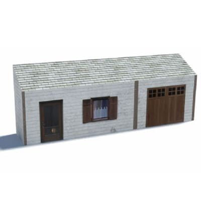 small white background house oo gauge