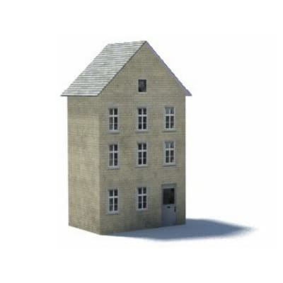 british terraced houses background oo gauge structure