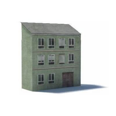 green oo gauge terraced houses