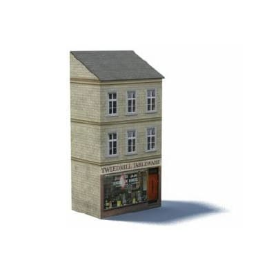 uk terraced homes and shop oo gauge downloadable kit