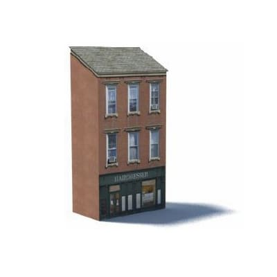 brick background apartments ho scale