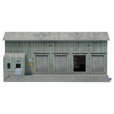 green loading bay background model railroad building