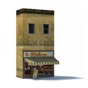 Bakery paper model kit