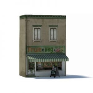 fruit shop ho scale building
