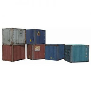 intermodal containers 10ft paper models