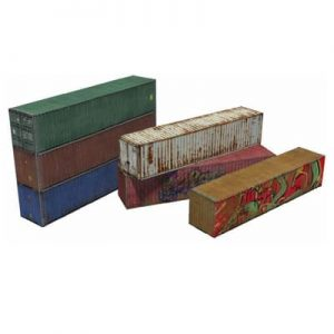 download 6 x 40ft shipping container card models