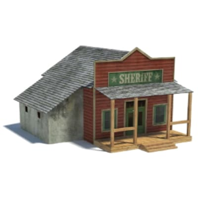 old western town paper models - sheriffs office buildings