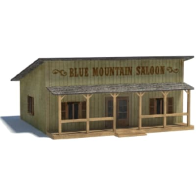old wild west models - blue mountain saloon