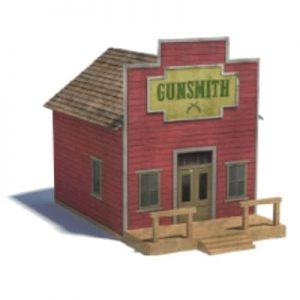 old west railroad models - gunsmith paper kits