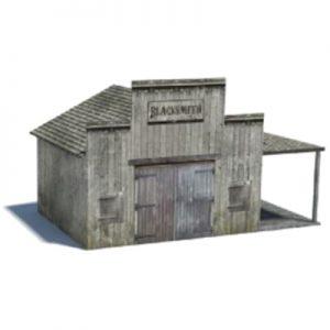scale railroad structures - wild west town blacksmiths