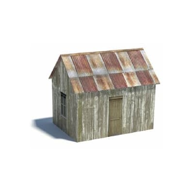 mining cabin shed old western models