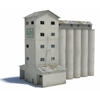 construct printable silos kits for scale railroads