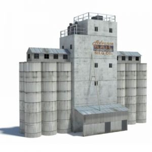 industrial silos - ho scale buildings