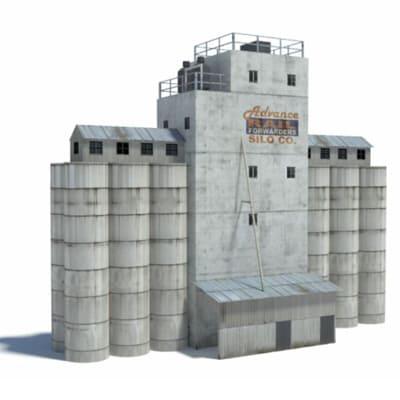 industrial silos - ho scale buildings