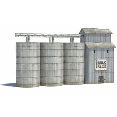 silos - download kits of paper models