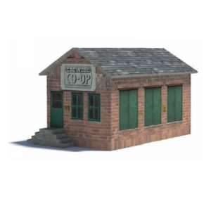 railway yard buildings - 3D brick goods depot