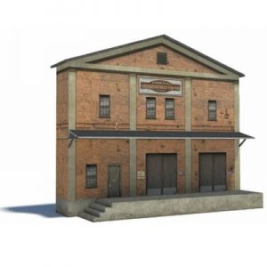 big model railroad warehouse structure - ho scale