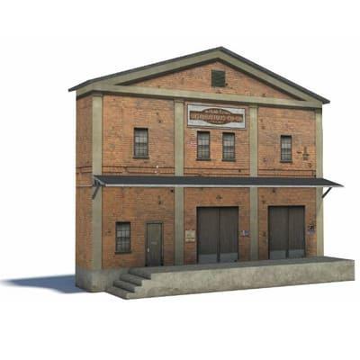 big model railroad warehouse structure - ho scale