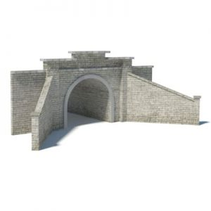 gray brick tunnel portal printable template kits