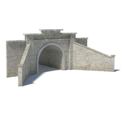 gray brick tunnel portal printable template kits