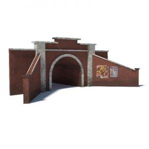 red brick tunnel portal paper template kits