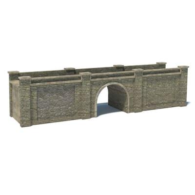 gray bridge scale railroad model