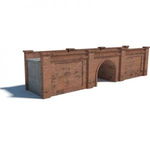 red brick bridge for model trains