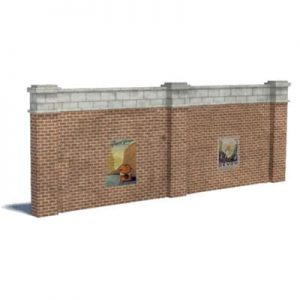 brown brick wall ho scale structures