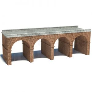 scale railroad arched bridge plan
