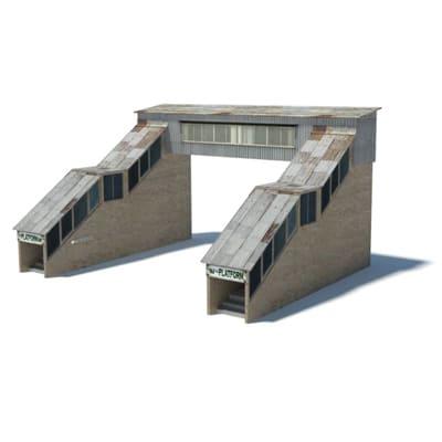railway station pedestrian overpass templates
