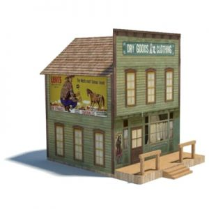 printable old west models - dry goods store