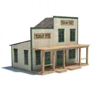 old west models - stage freight depot for ho scale railroads