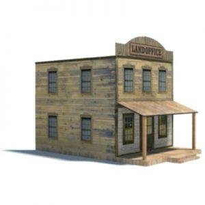 download old western models - land office ho buildings