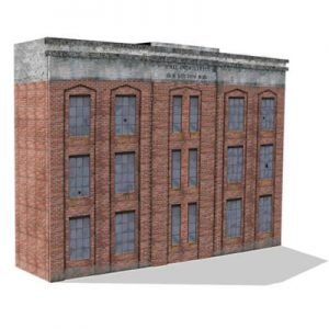 print buildings for extendable railroad back scenes